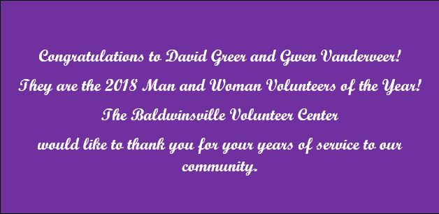 CONGRATULATIONS TO OUR 2018 VOLUNTEERS OF THE YEAR!